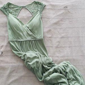 Azazie Bridesmaid Dress   Green Sz 6